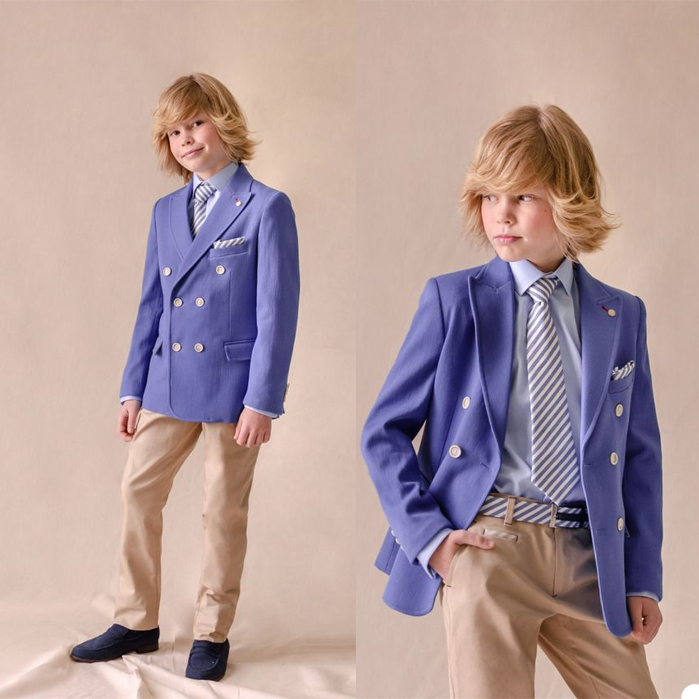 2020 New Boys' Attire High Quality Kids Suits Custom Made Handsome Two-Button Clothing Set 2 Pieces Prom Suits (Jacket+Pants)
