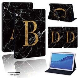 Pour Huawei MediaPad T3 8.0 /MediaPad T3 10 9.6 /MediaPad T5 10 10.1-support de tablette en cuir imprimé housse antichoc
