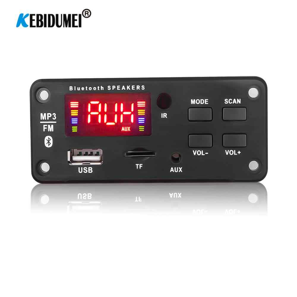 USB AUX 5 V-12 V Handsfree Bluetooth 5.0 Car Radio MP3 Speler Decoder Board Ondersteuning Opname FM TF card AUX Audio Module