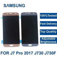 Top Quality LCD For Samsung Galaxy J7 Pro 2017 J730 J730F Display and Touch Screen Digitizer Assembly Adjust Brightness