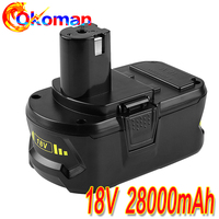 High Capacity New 18V 28000mAh Li-Ion For Ryobi Hot P108 RB18L40 Rechargeable Battery Pack Power Tool Battery Ryobi ONE+Hot sell