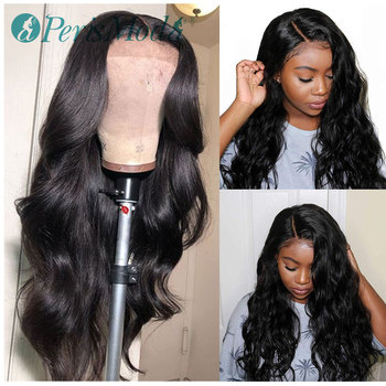 Lace Front Wigs Long Body Wave Synthetic Wig for Black Women PerisModa Natural Black Wig Heat Resistant Fiber Synthetic Hair Wig 180% density heat resistant fiber syntehtilace lace front wig body wave black hair synthetic wigs for black women free shipping