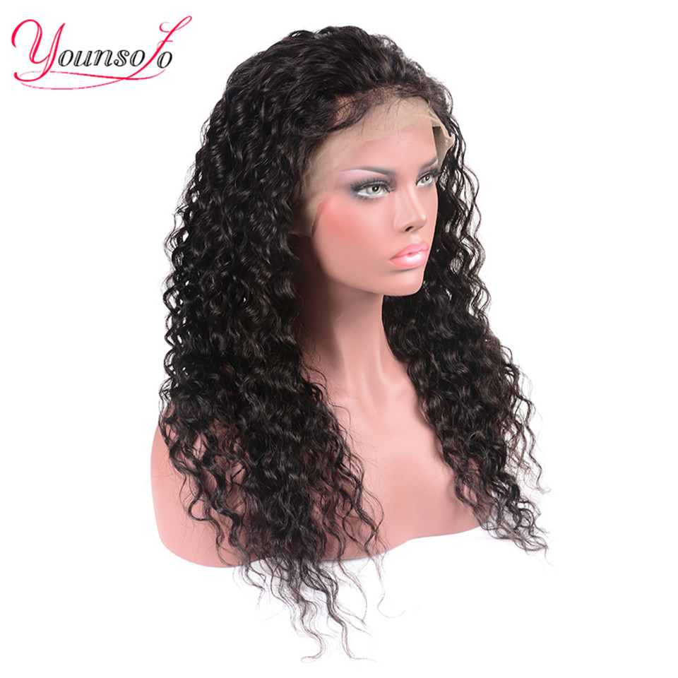 Hec9e88253b4645e7bc20ea710e8dbbeaz Younsolo 13x4 Lace Front Human Hair Wigs For Black Women Remy Brazilian Water Wave Lace Front Wig Pre Plucked With Baby Hair
