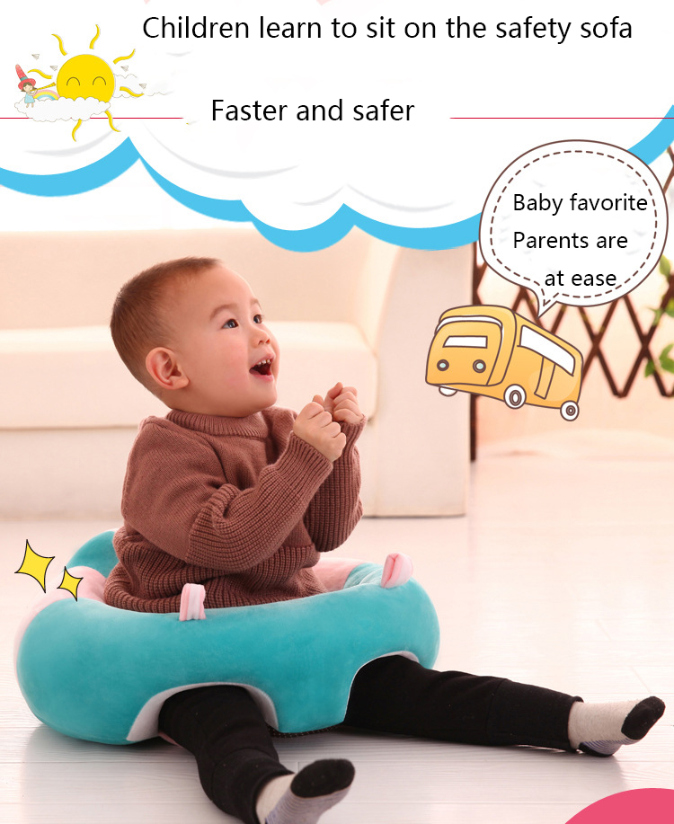 Infant Baby Sofa & Seat Support Eating Safe Dining Feeding Baby Chair Learning Seat Sofa For Kids