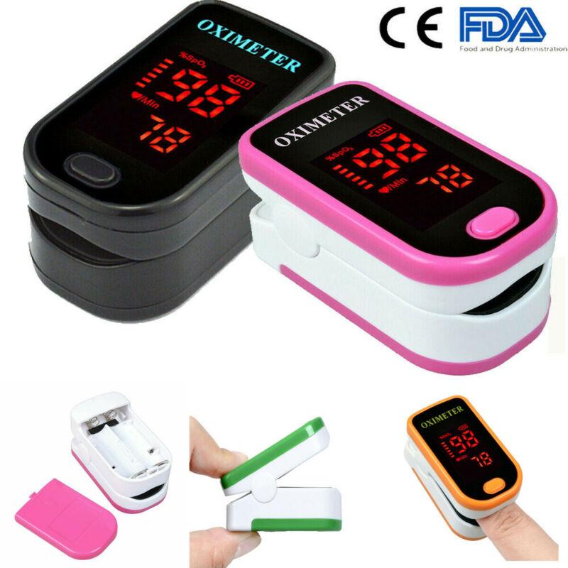 Finger Pulse Oximeter Pulse Details About Sensor Portable Blood Oxygen Level Saturation SPO2 Heart Rate Patient Monitor