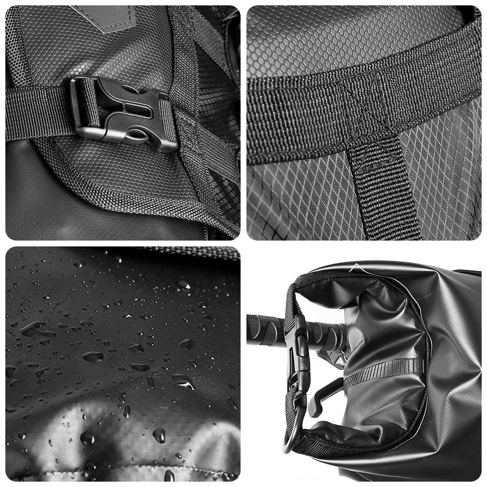 NEWBOLER Bike Front Tube Bag Waterproof Bicycle Handlebar Basket Pack Cycling