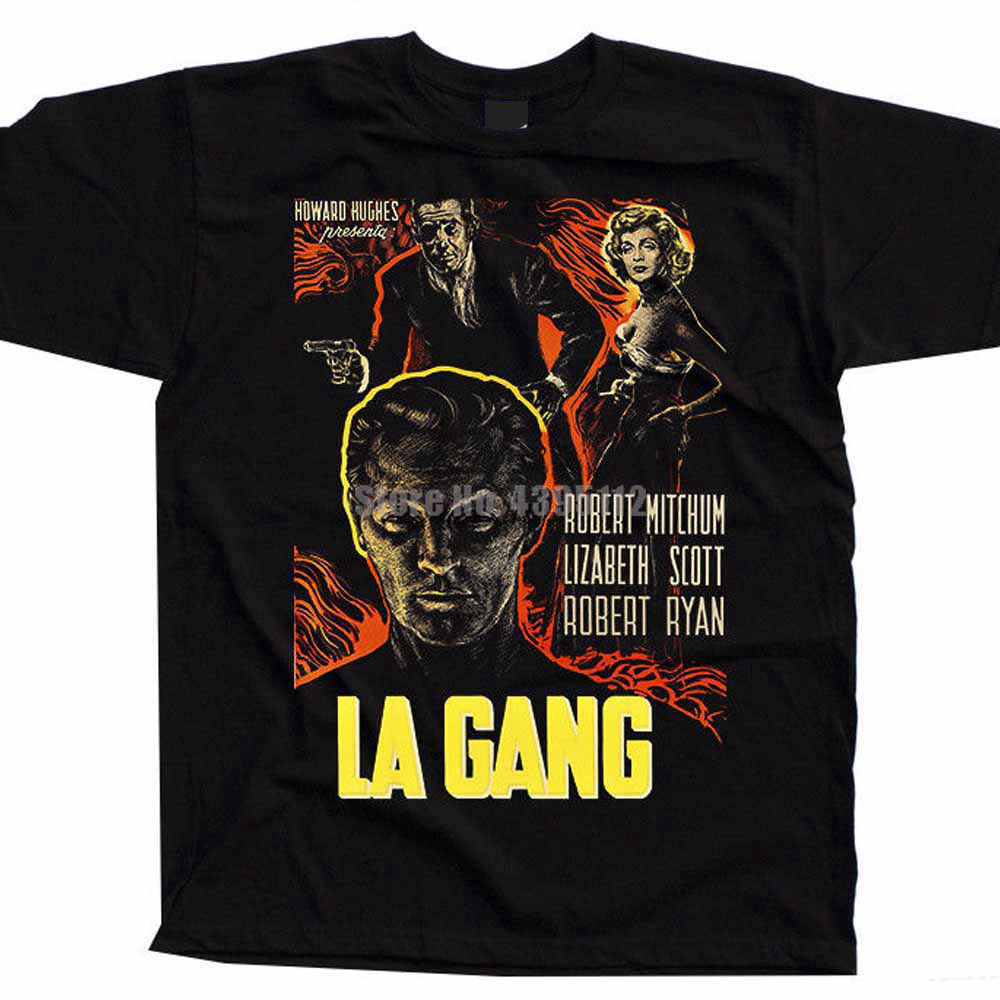 La Gang Movie Poster Homme Funny Tshirt Hip Hop Clothing T Shirt Gym T Shirts Brand Tee Shirt Mens Tops image