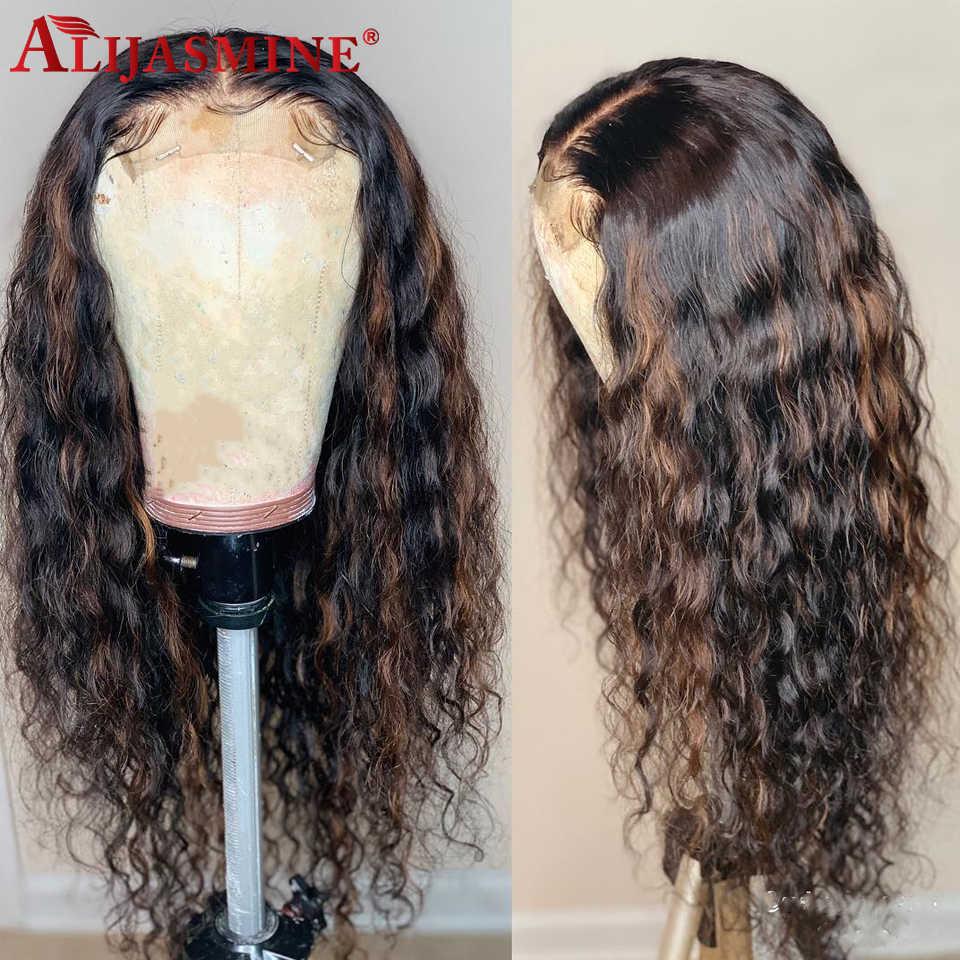 Sóng Nước Ren Mặt Trước Bộ Tóc Giả Ombre #4 27 Mật Ong Tóc Vàng Nổi Bật Bộ Tóc Giả Dành Cho Nữ 13X6 Ren Mặt Trước tóc Giả 150 Mật Độ Remy