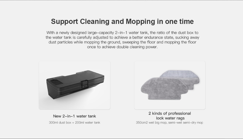 Original VIOMI V2 PRO vacuum cleaner 2100pa LDS strong suction sweeping robot automatic charging LDS laser navigation scanning 3