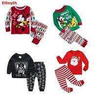 2019 Пижама; infantil Gecelik Roupas Koszula; ночная рубашка с рисунком; Рождественская Пижама для мальчиков; Пижама; детская пижама для мальчиков; комплект ...