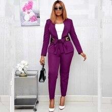 2 قطعة مجموعة أفريقيا الملابس 2020 الأفريقية Dashiki جديد Dashiki بدلة على الموضة بلوزات و بنطلون سوبر مطاطا حفلة حجم كبير لسيدة