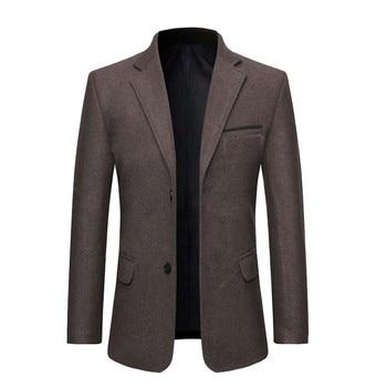 Δερμάτινο σε λεπτή γραμμή blazer business jacket.