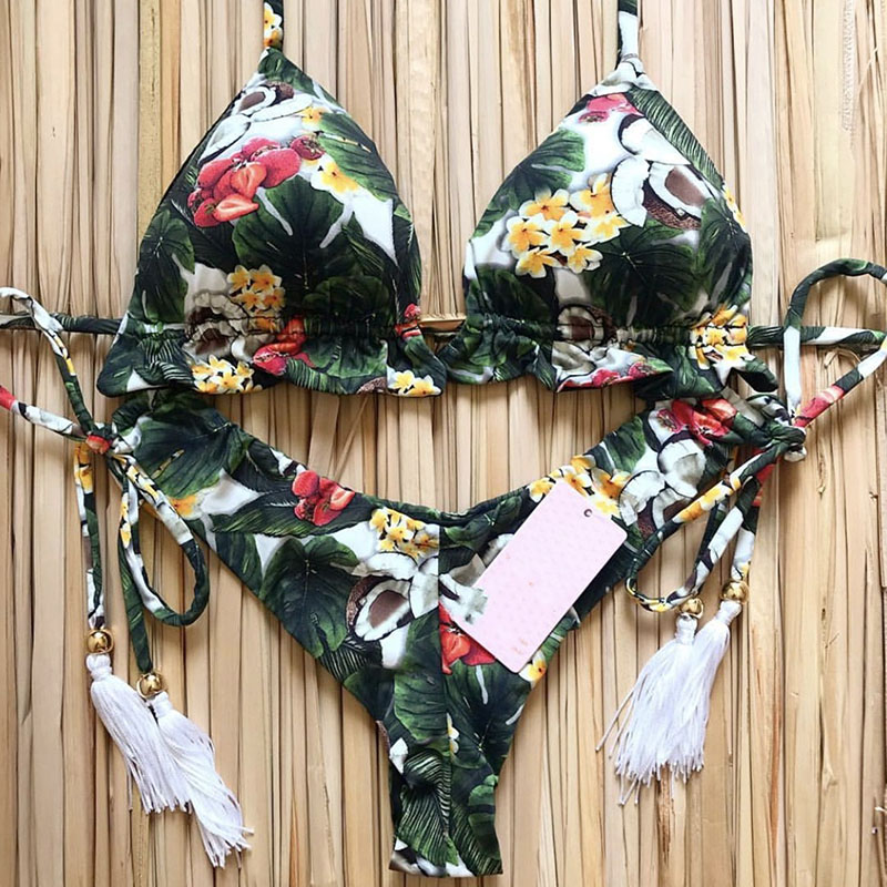 Hec9fa8772d3241f1b5da9722cf7bccd9s 2019 Sexy Bikinis Women Swimsuit Bandage Halter Beach Wear Bathing suits Push Up Swimwear Female Brazilian Bikini Set