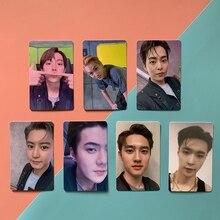 7 шт./компл. или 6 шт./компл. Kpop Exo не сражайтесь с ощущением, альбом, фотооткрытки K-pop, новая модная самодельная бумажная фотооткрытка, фотооткр...