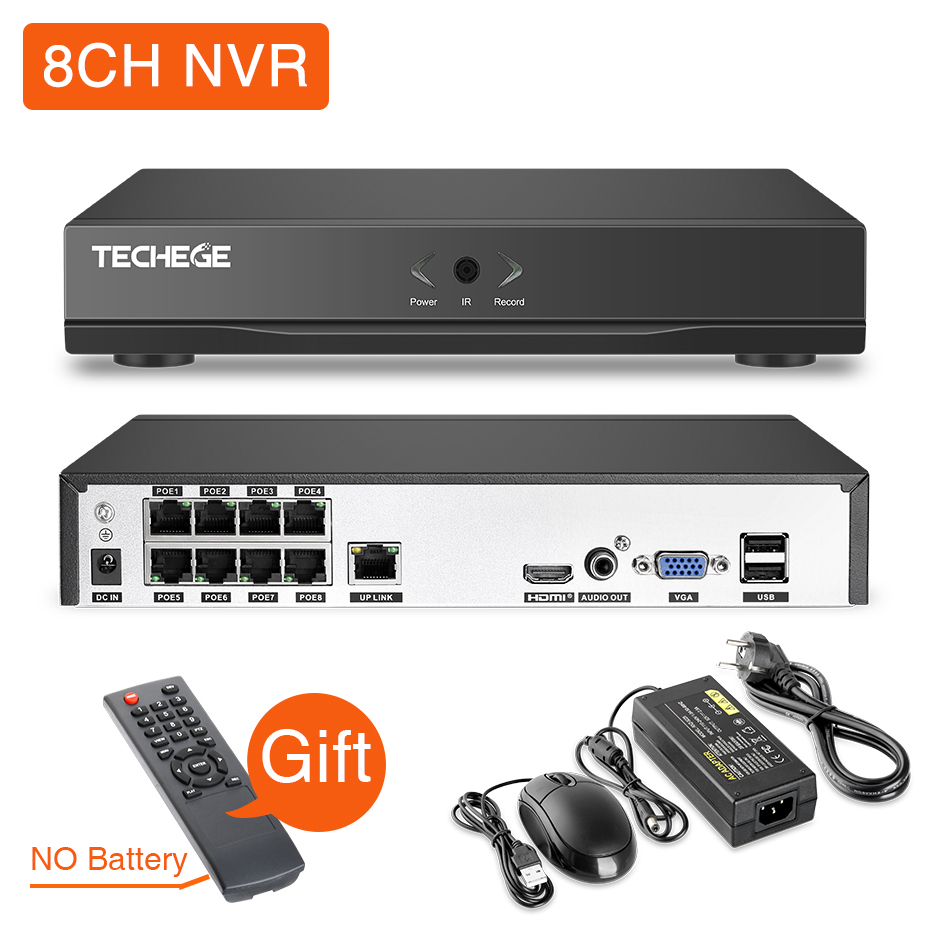 Image 3 - Techege H.265 8CH POE System 4.0MP Audio IP Camera Metal Outdoor Waterproof Network Camera CCTV Security System Surveillance Kit-in Surveillance System from Security & Protection