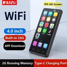 Najnowszy RUIZU H8 Android WiFi MP4 odtwarzacz Bluetooth 5.0 w pełni dotykowy ekran 4 calowy 16GB odtwarzacz muzyczny wideo z FM, nagrywanie, E-book