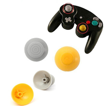 4pcs Replacement Analog Joystick Thumb Stick Cap Yellow Gray Worn Out Analog Cap For NGC Gamecube gamecube GC controller