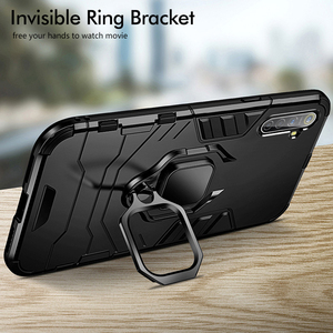 CHYI Armor Case For realme xt x2 6 pro Stand Holder Car Ring shell case for oppo reno 2 2z ACE X50 5G 3 5 pro A5 A9 2020 A8 A31(China)