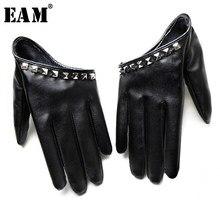 [EAM] 2021 nouveau printemps été couleurs imprimer personnalité Hip Pop crème solaire perles mode marée accessoires gants OA993