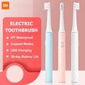 XIAOMI MIJIA Sonic электрическая зубная щетка T100 IPX7 Водонепроницаемая перезаряжаемая зубная щетка для взрослых ультразвуковая автоматическая зуб...
