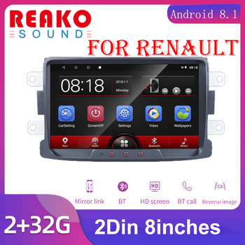 Android Car Radio Autoradio 8'' 2 Din Car Multimedia MP5 Player GPS Buletooth Car Stereo Mirror Link For Renault Sander image