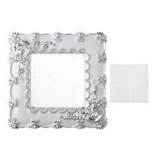 Панель светильник еля света серебристая + белая 88*88 см
