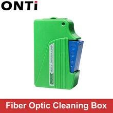 ONTi الألياف نهاية الوجه تنظيف صندوق الألياف مسح أداة ضفيرة الأنظف كاسيت Ftth البصرية الألياف الأنظف أدوات ل SC/ST/FC