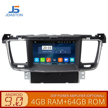 JDASTON Android 9.0 Car DVD Player For PEUGEOT 508 Stereo GPS Navigation multimedia Auto Audio Radio Octa Cores 4G+64G Headunit