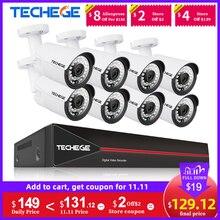 Techege H.265 8CH POE מערכת 2.0MP אודיו IP מצלמה מתכת חיצוני עמיד למים רשת מצלמה אבטחת CCTV מערכת ערכת מעקב
