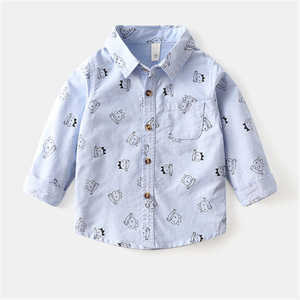 WenaZao/детская одежда; Рубашки для маленьких мальчиков; Одежда для малышей; Модные осенние хлопковые топы с длинными рукавами и милым принтом