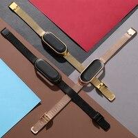 Milanese Metall Strap für Mi Band 6 5 4 Armband Ersatz für Xiaomi Band 3 Schraubenlose Edelstahl Uhr Band zubehör