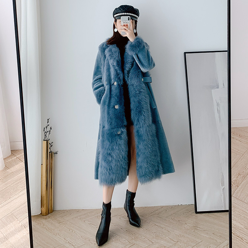 Natural Real Fur Coat Female Vintage 100% Wool Jacket Women Winter Clothes 2020 Korean Double Faced Fur Top Overcoat Hiver 1772