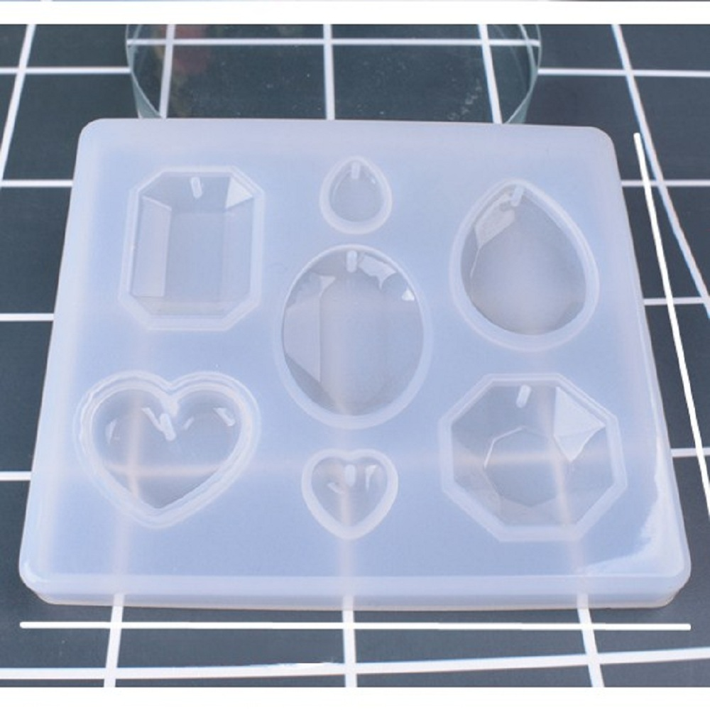 New UV Resin Jewelry Liquid Silicone Mold Diamond Shape Planet Molds For DIY Necklace Pendant Charms Making Jewelry