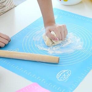 Большой 50*40 замесить тесто рулон pad кухонное приспособление из силикона коврик для выпечки