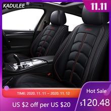 Чехол для автомобильного сиденья KADULEE, роскошный кожаный чехол для Volkswagen passat vw polo golf tiguan jetta touareg Sharan up Phaeton, автомобильные аксессуары