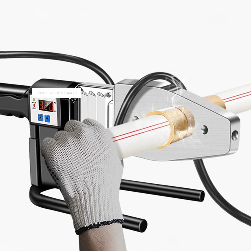 Butt-Welding Machine Small Butt Welder Intelligent Digital Display PPR Hot-Melt Machine Jointing Machine Pipe Subterrene 220V