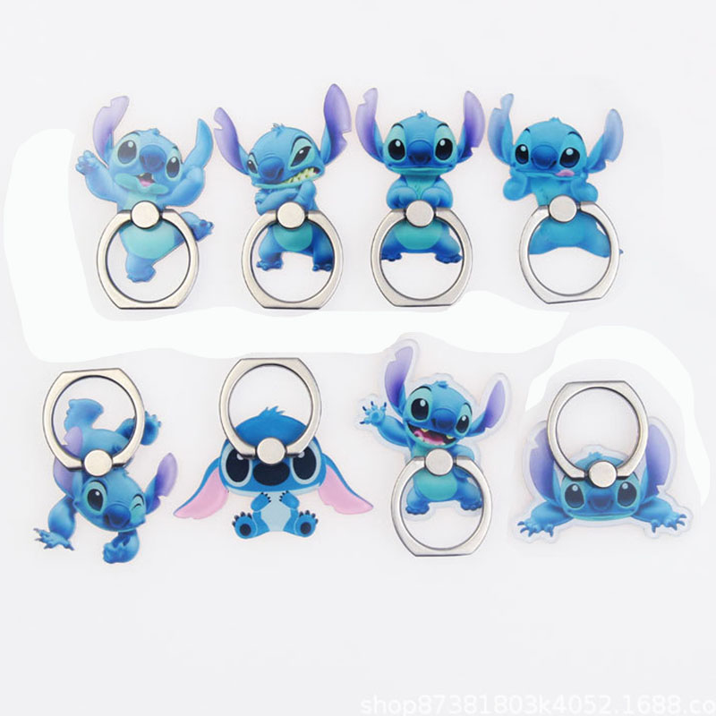 Universal Phone Ring Holder Mobile Phone Holder Stand Cartoon Stitch Finger Ring Holder Suporte Celular For All Mobile Phones