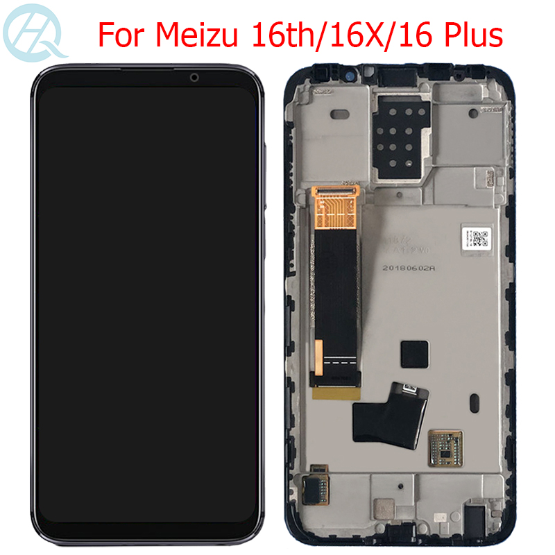 Original 16 Plus LCD For <font><b>Meizu</b></font> 16th <font><b>16X</b></font> 16Plus <font><b>Display</b></font> With Frame AMOLED 16th <font><b>16X</b></font> M882Q M8821H M872Q M872H LCD Touch Screen image