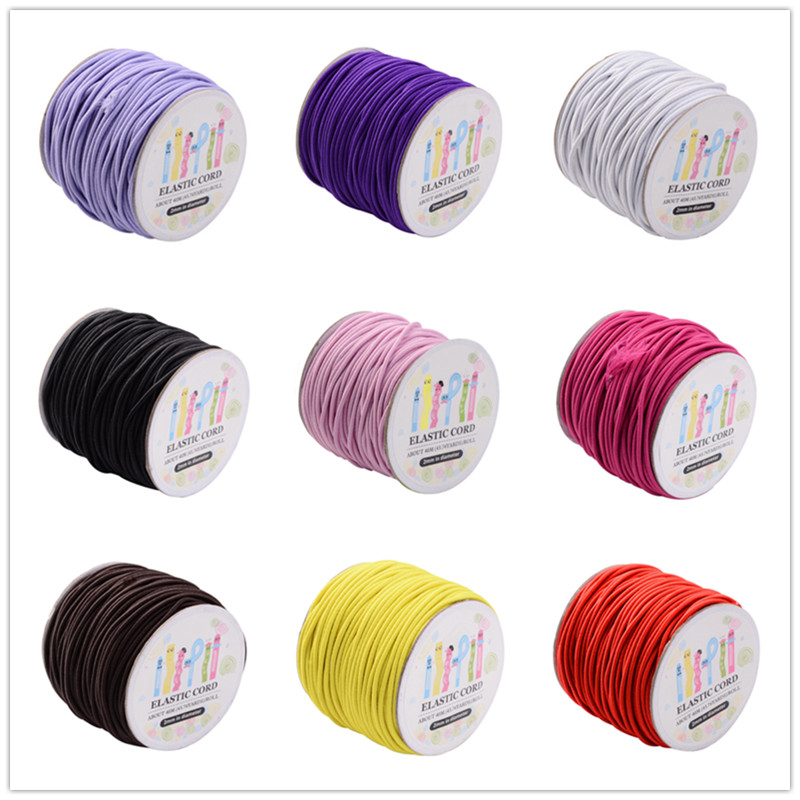 <font><b>Elastic</b></font> <font><b>Cord</b></font> 1mm <font><b>2mm</b></font> for DIY Jewelry Making accessories,with Nylon Outside and Rubber Inside ,100m/roll;40m/rollF60 image