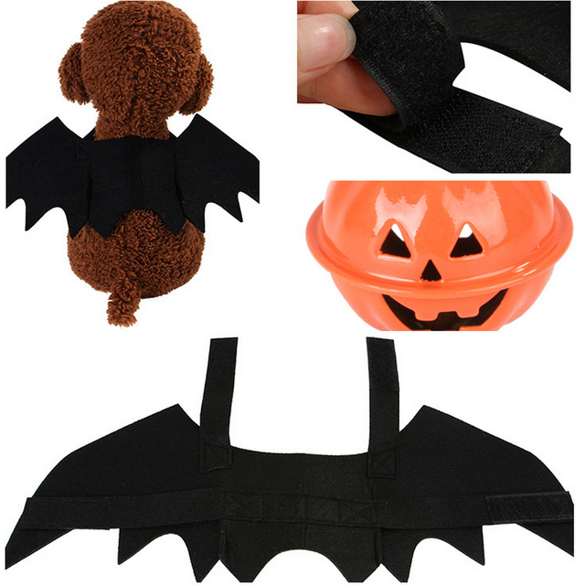 Halloween Pet Dog Costumes Bat Wings Vampire Black Cute Dress Cat Costume Pet Cosplay Clothing Cat Wings Halloween Costume 3
