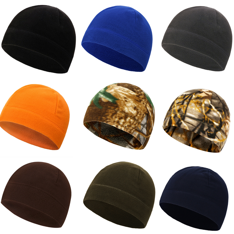 Outdoor Fleece Sports Hat Fishing Cycling Hunting Military Tactical Cap Men Women Warm Windproof  Winter Cap Camping Hiking Caps