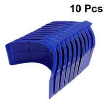 10 pçs de plástico pomba poleiro pomba resto quadro grill habitação poleiros pombo poleiro para suprimentos pássaro (azul)