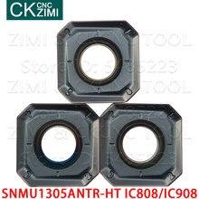 Snmu SNMU1305ANTR-HT ic908 ic808 inserções de trituração de carboneto quadrado fresa insert cnc fresagem máquinas ferramentas de inserção de corte