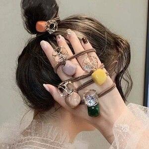 Новые модные блестящие резинки для волос с бусинами, Женский хвостик для волос aliexpress goods лучшие популярные товары заказать почтой купить китая бесплатной доставкой дешевые shopping 2020