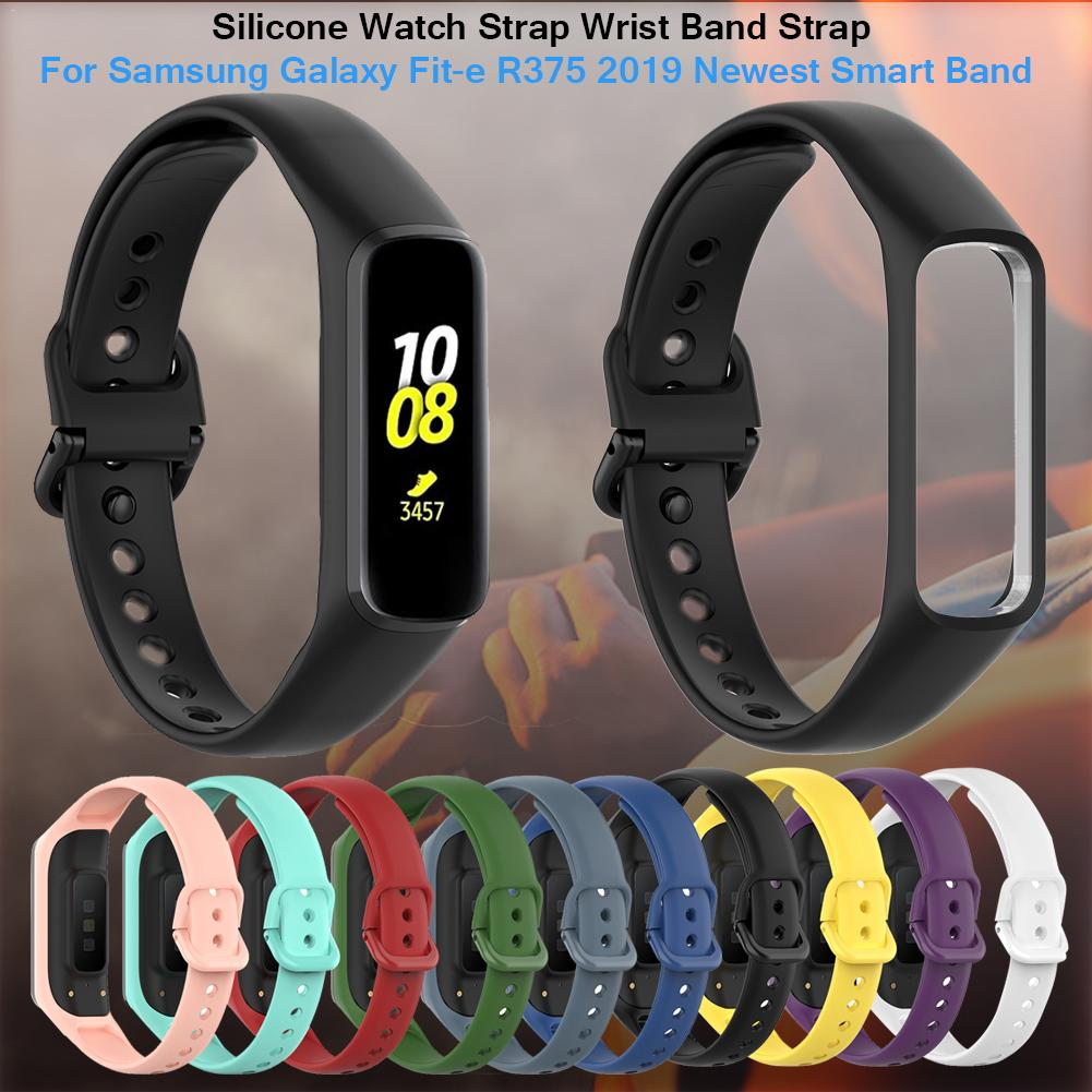 Silicone Watch Strap Wrist Band Strap For Samsung Galaxy Fit-e R375 Smart Bracelet Original Style Watch Strap Accessories