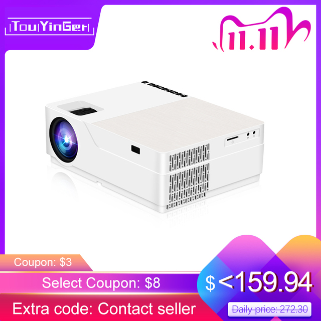TouYinger M18 Projector full HD, native 1080p 5500Lumen , Android option , LED video Projector Home Theater Full HD Movie Beamer