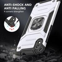 Funda armadura a prueba de golpes para Asus ZenFone Live L1 ZA550KL Zenfone 4 Max ZC554KL, carcasa trasera protectora con soporte de anillo de Metal magnético