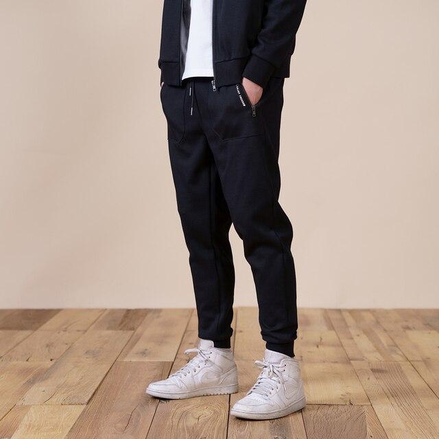 Slim fit jogger pants with drawstring