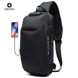 OZUKO Multifunction Crossbody Bag for Men Anti-theft Shoulder Messenger Bags Male Waterproof Short Trip Chest Bag Pack Hot