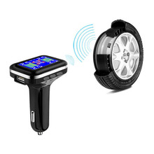 TPMS Cigarette Lighter Plug Tire Pressure Monitoring System Alarm Monitor System Car Security With External Sensor Accessories tpms tire pressure monitoring system diagnostic tool tire pressure alarm cigarette lighter temperature diy psi bar careud 903